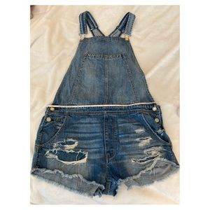 American Eagle 🦅 overall blue Jean shorts